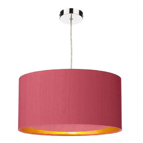 Hockney 40cm Pendant Light Chrome with Shade (choose colour) HOC40 (Hand made, 10-14 day Del)